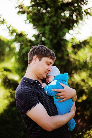 Dad with son - preconception and fertility coach